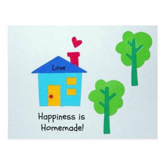 ¡La felicidad es hecha en casa Tarjeta Postal