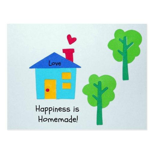 ¡La felicidad es hecha en casa! Tarjeta Postal