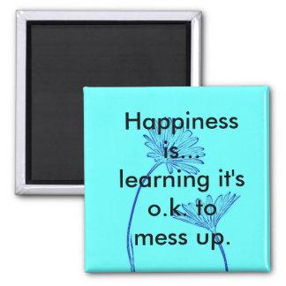 La felicidad es… Imán del refrigerador