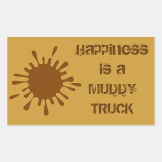 La felicidad es pegatina fangoso del camión