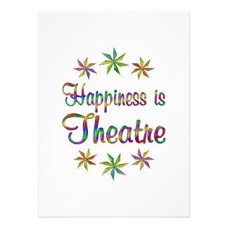 La felicidad es teatro invitación