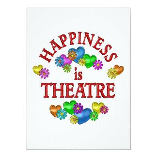 La felicidad es teatro invitación 13,9 x 19,0 cm