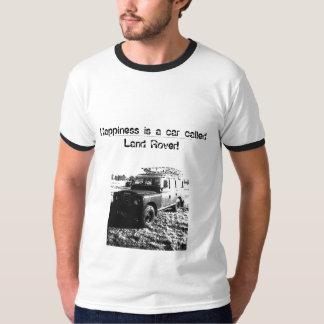 ¡La felicidad es un coche llamado Land Rover! Camisetas