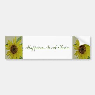 La felicidad es un girasol bien escogido pegatina para coche