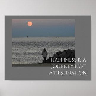 La felicidad es un viaje -- Impresión del arte