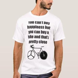 La felicidad es una camiseta de la bici