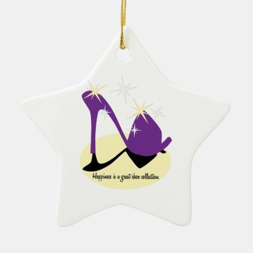 La felicidad es una gran colección del zapato ornamento para arbol de navidad
