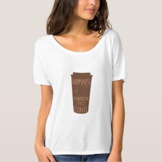 La felicidad es una taza de camiseta del café de