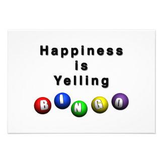 La felicidad está gritando BINGO Anuncio