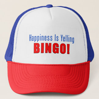 La felicidad está gritando el gorra del camionero