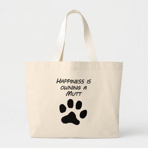 La felicidad está poseyendo un Mutt Bolsa