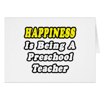 La felicidad está siendo profesor preescolar felicitaciones