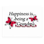La felicidad está siendo una MARIPOSA de la abuela Tarjetas Postales
