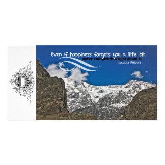 La felicidad olvida la tarjeta de encargo de la fo tarjetas personales