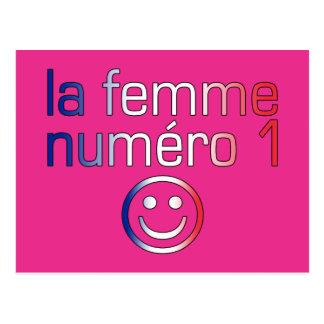 La Femme Numéro 1 - esposa del número 1 en francés Postal
