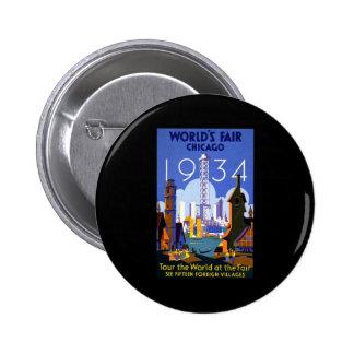 La feria de mundo de Chicago 1934 Chapa Redonda De 5 Cm