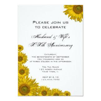 La fiesta de aniversario del boda del borde del invitación 12,7 x 17,8 cm