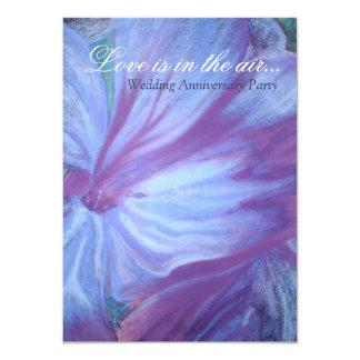 La fiesta de aniversario floral de los azules comunicados personalizados