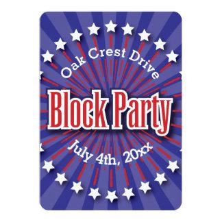 La fiesta de barrio invita - a las barras y invitación 12,7 x 17,8 cm