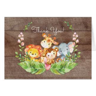 La fiesta de bienvenida al bebé adorable de la tarjeta pequeña