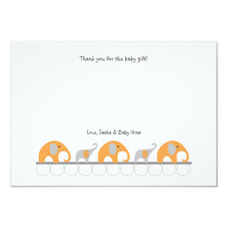 La fiesta de bienvenida al bebé anaranjada del invitación 8,9 x 12,7 cm