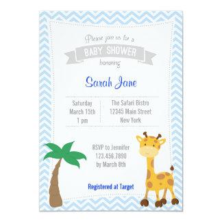 La fiesta de bienvenida al bebé animal de la invitacion personalizada