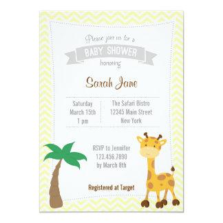 La fiesta de bienvenida al bebé animal de las invitación 12,7 x 17,8 cm