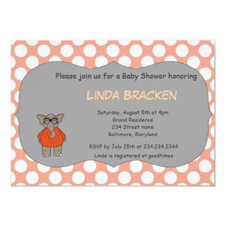 La fiesta de bienvenida al bebé coralina del invitación 12,7 x 17,8 cm