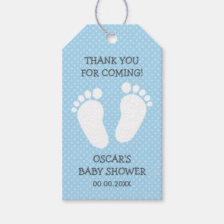 La fiesta de bienvenida al bebé de encargo de los etiquetas para regalos