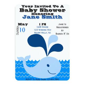 La fiesta de bienvenida al bebé de la ballena invitación 12,7 x 17,8 cm