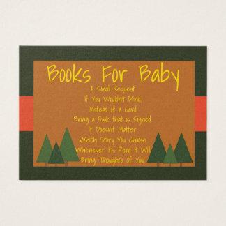 La fiesta de bienvenida al bebé de los arbolados tarjeta de negocios