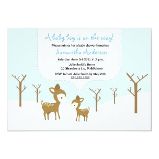 La fiesta de bienvenida al bebé de los ciervos y invitación 12,7 x 17,8 cm