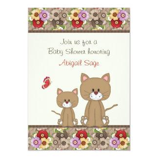 La fiesta de bienvenida al bebé de los gatos y de anuncios