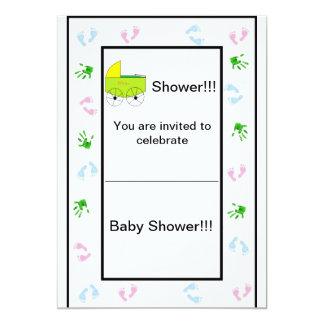 La fiesta de bienvenida al bebé de Sheek invita Invitación 12,7 X 17,8 Cm