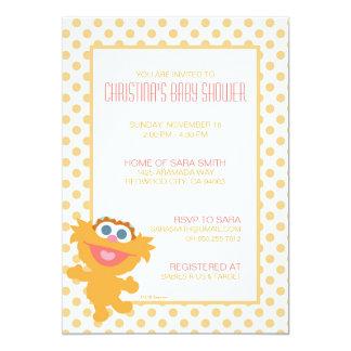 La fiesta de bienvenida al bebé de Zoe invita Invitación 12,7 X 17,8 Cm