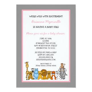 La fiesta de bienvenida al bebé del chica de los invitación 12,7 x 17,8 cm