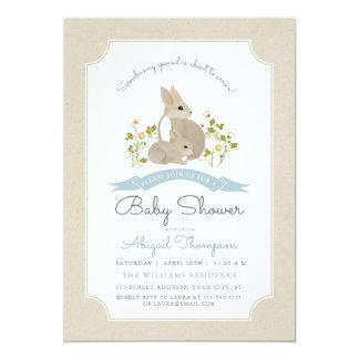 La fiesta de bienvenida al bebé del conejito invitación 12,7 x 17,8 cm