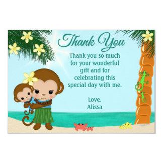 La fiesta de bienvenida al bebé del mono de Hula Invitación 8,9 X 12,7 Cm