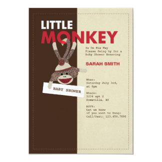 La fiesta de bienvenida al bebé del mono del invitación 12,7 x 17,8 cm