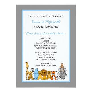 La fiesta de bienvenida al bebé del muchacho de invitación 12,7 x 17,8 cm