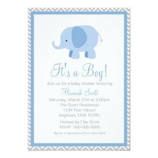 La fiesta de bienvenida al bebé del muchacho del invitación 12,7 x 17,8 cm