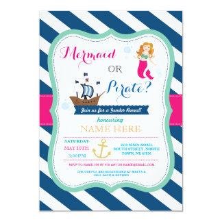 La fiesta de bienvenida al bebé del pirata o de la invitación 12,7 x 17,8 cm
