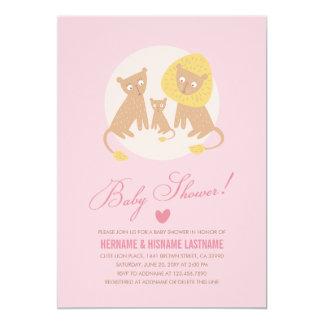 La fiesta de bienvenida al bebé del rosa de la invitación 12,7 x 17,8 cm