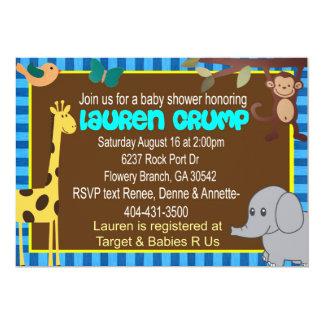 La fiesta de bienvenida al bebé del safari invita invitación 12,7 x 17,8 cm
