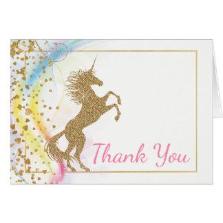 La fiesta de bienvenida al bebé del unicornio le tarjeta pequeña