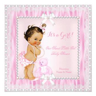 La fiesta de bienvenida al bebé dulce de la niña invitación 13,3 cm x 13,3cm
