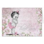La fiesta de bienvenida al bebé dulce del rosa del tarjeta