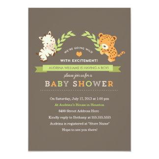 La fiesta de bienvenida al bebé dulce del safari invitación 12,7 x 17,8 cm