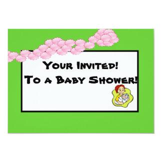La fiesta de bienvenida al bebé enrrollada invita invitación 12,7 x 17,8 cm