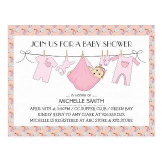 La fiesta de bienvenida al bebé invita a la postal